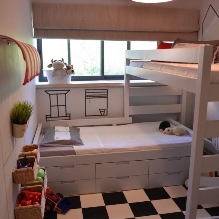 מהפך בחדר קטן לשני ילדים