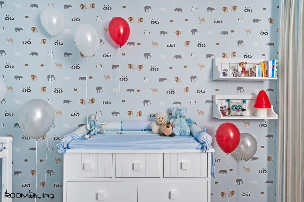 דקורציה לקיר בחדר תינוק מעוצב