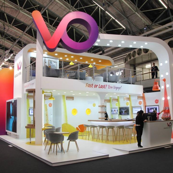 עיצוב ביתן חברת VO בשיתוף פעולה עם חברת שפירא וקסמן