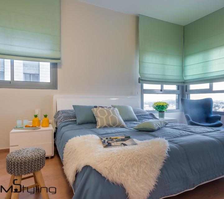 home styling נוטף שיק לחדר שינה זוגי בהוד השרון