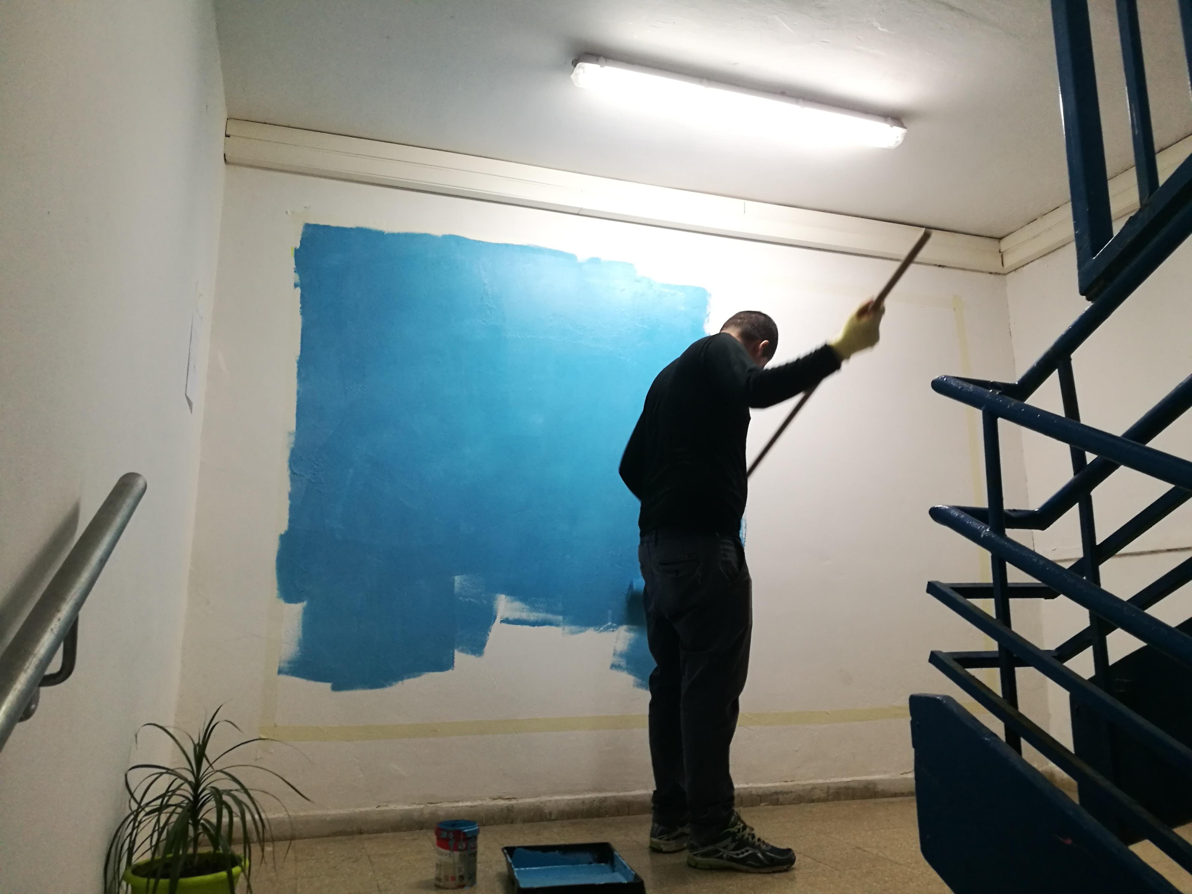 צביעת קירות בעיצוב