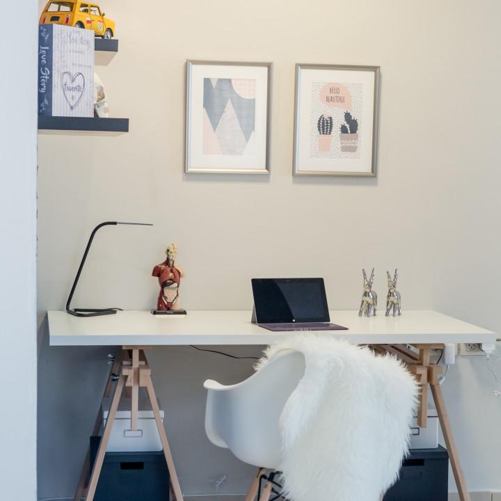 עיצוב פינת עבודה בדירה בהרצליה