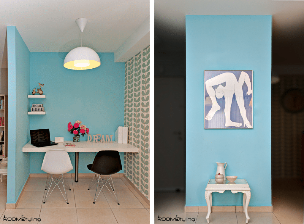 עיצוב קירות פינת עבודה