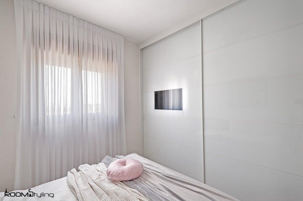 עיצוב חדר שינה לבן