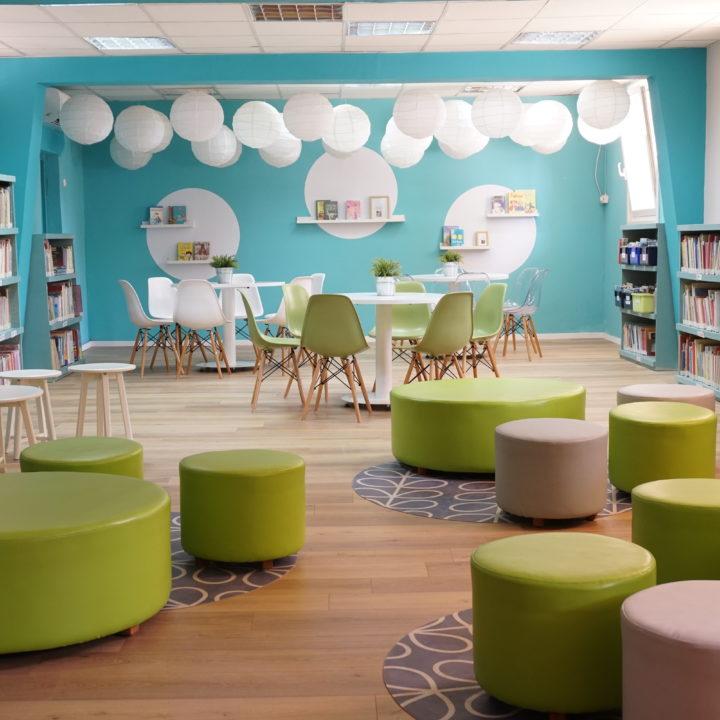 עיצוב ספרייה בבית ספר