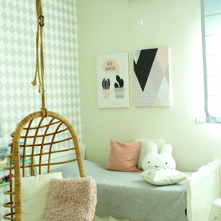 חדר ילדה מעוצב בסגנון סקנדינבי