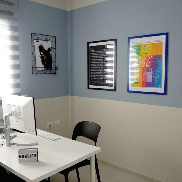 חדר עבודה מעוצב בסגנון מודרני