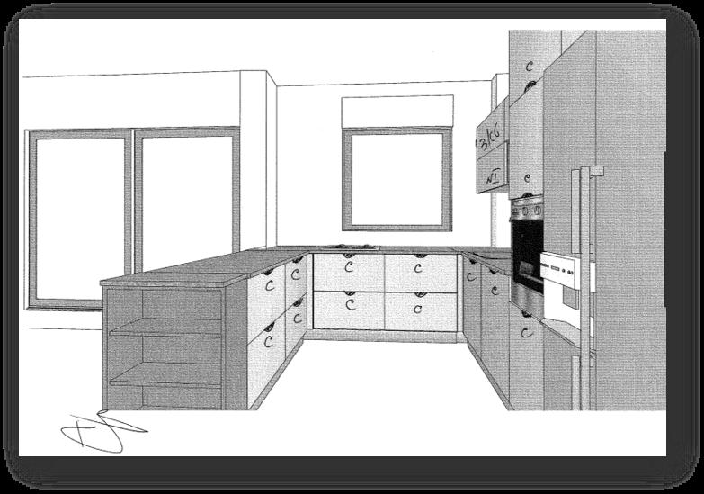 עיצוב בית עם מטבח ורוד