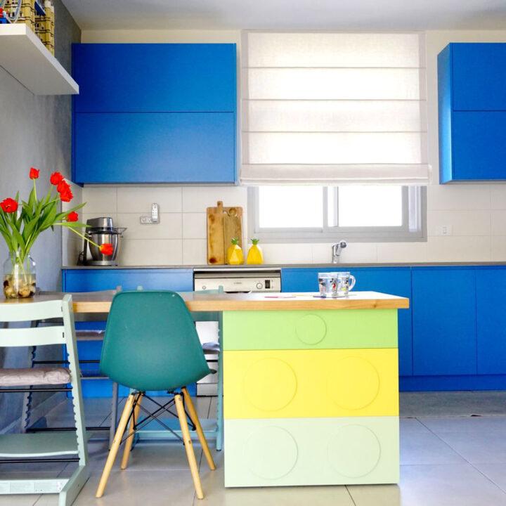 עיצוב מטבח צבעוני