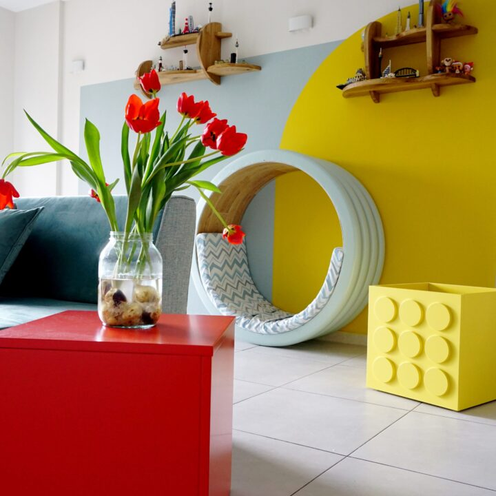 סלון מעוצב צבעוני